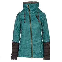 Cappel Heartbreak Womens Insulated Snowboard Jacket, Teal Smoke Chambray, 256