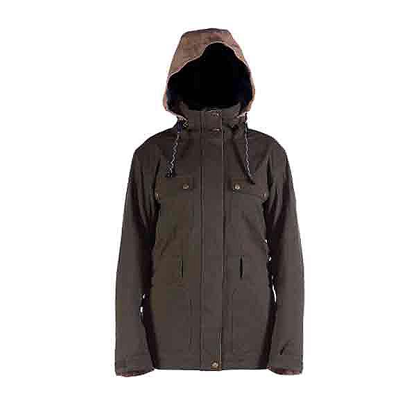 Cappel Secret Womens Insulated Snowboard Jacket, Canteen Tweed, 600