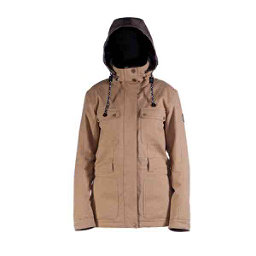 Cappel Secret Womens Insulated Snowboard Jacket, Camel Wool, 256