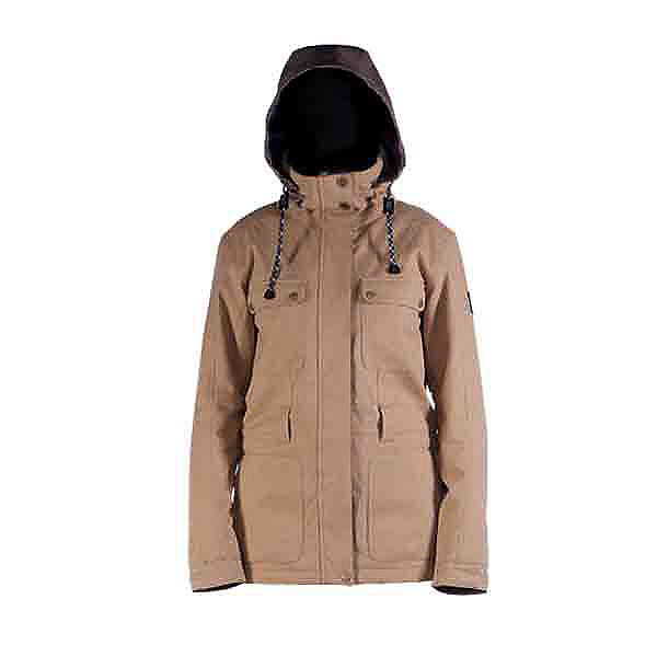 Cappel Secret Womens Insulated Snowboard Jacket, Camel Wool, 600