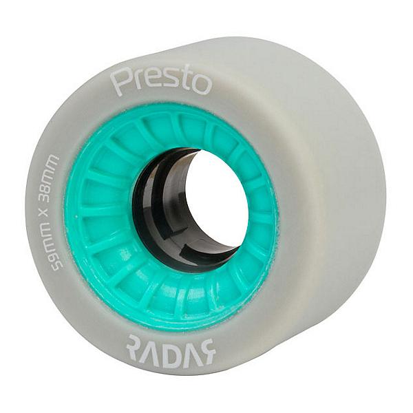 Radar Presto 59 4 Pack Roller Skate Wheels, Highlighter Turquoise, 600