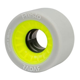 Radar Presto 59 4 Pack Roller Skate Wheels 2017, Highlighter Yellow, 256
