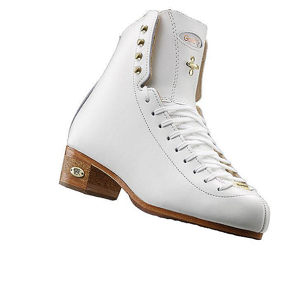 Riedell 75 Gold Star Girls Figure Ice Skates, White, 600