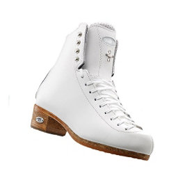 Riedell 875 Silver Star Womens Figure Ice Skates, White, 256