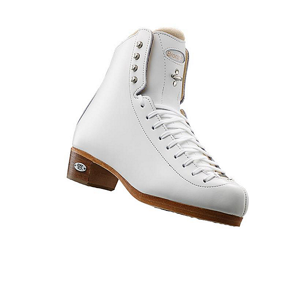Riedell 43 Bronze Star Ice Skate Boot, White, 600