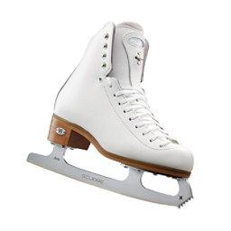 Riedell Motion Girls Figure Ice Skates, White, 256