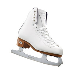 Riedell 29 Edge Girls Figure Ice Skates, White, 256