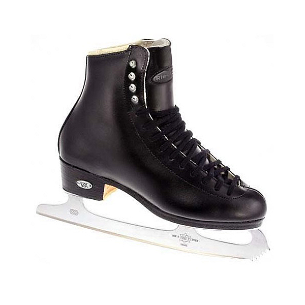 Riedell 23 Stride Boys Kids Figure Ice Skates, Black, 600