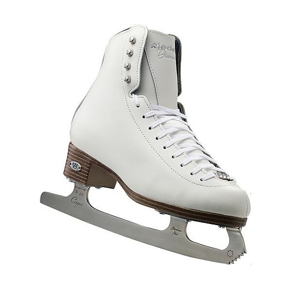 Riedell 133 Diamond Womens Figure Ice Skates, White, 600
