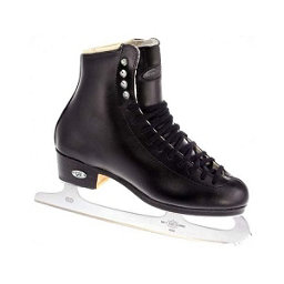 Riedell 133 Diamond Mens Figure Ice Skates, Black, 256