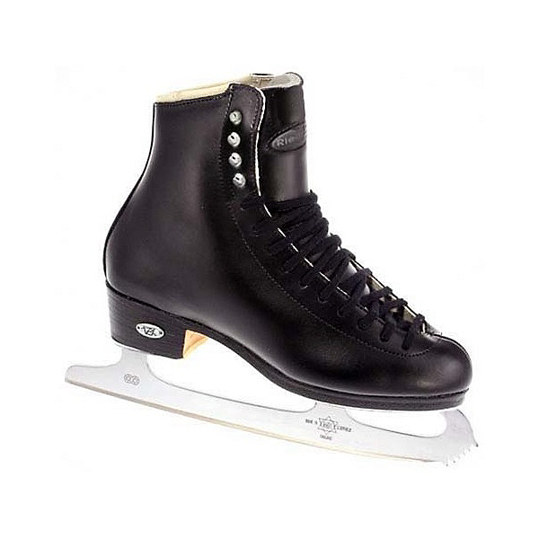 Riedell 133 Diamond Mens Figure Ice Skates, Black, 600