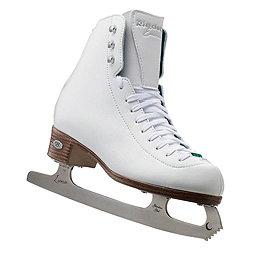 Riedell 119 Emerald Womens Figure Ice Skates, White, 256