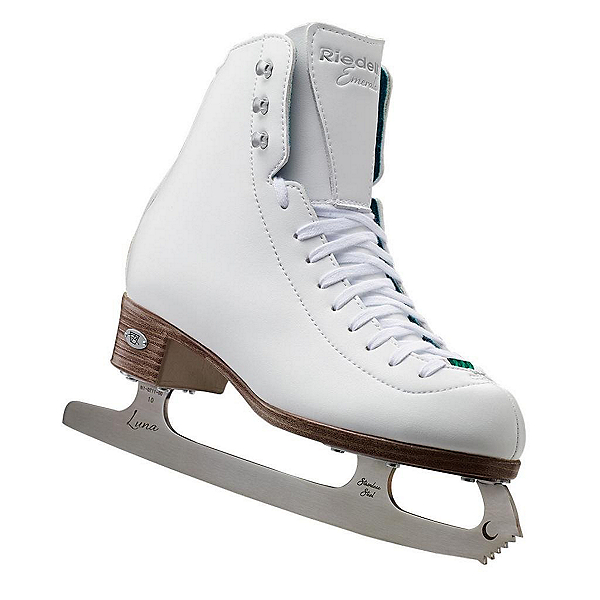 Riedell Emerald Girls Figure Ice Skates, White, 600
