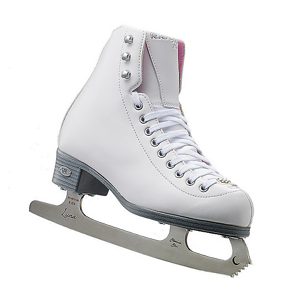 Riedell 14 Pearl Girls Figure Ice Skates, White, 600