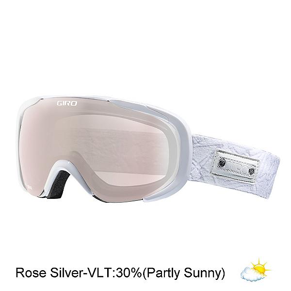 Giro Field Womens Goggles, White Geo-Rose Silver, 600