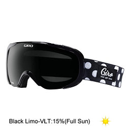 Giro Field Womens Goggles, Black Polka Dot-Black Limo, 256
