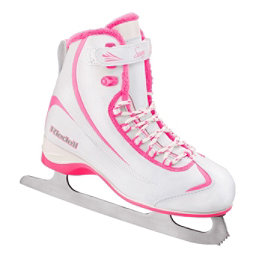 Riedell 615 SS Girls Figure Ice Skates, White-Pink, 256