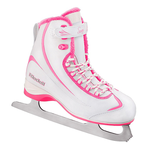 Riedell 615 SS Girls Figure Ice Skates, White-Pink, 600