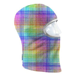 Seirus Prints Kids Balaclava, Skratch Plaid-Multi, 256