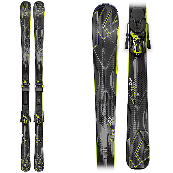 K2 AMP 80X Skis with K2/Marker M3 12 TC Bindings, , 600
