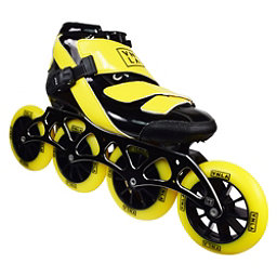 Vanilla Spyder Race Inline Skates, Black-Yellow, 256