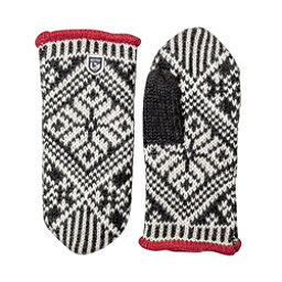 Hestra Nordic Wool Womens Mittens, Black-Off White, 256