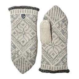 Hestra Nordic Wool Womens Mittens, Grey-Off White, 256