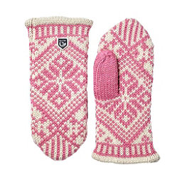 Hestra Nordic Wool Womens Mittens, Pink-Off White, 256