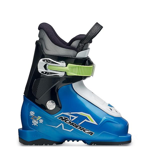 Nordica Team 1 Kids Ski Boots 2019, Blue-Black-White, 600