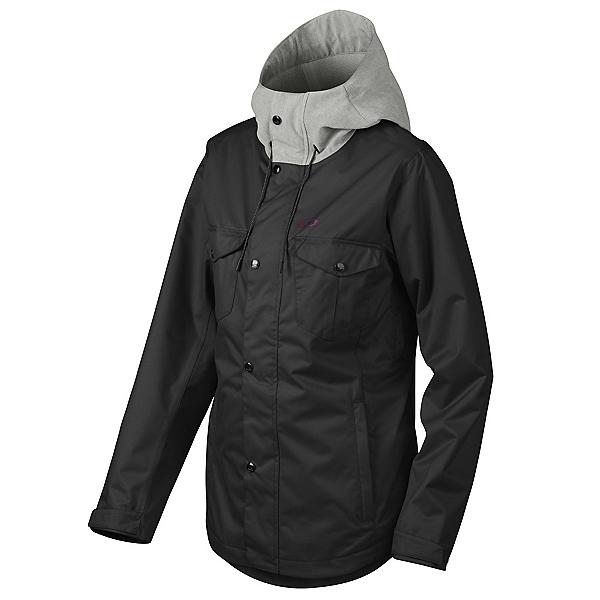 Oakley Charlie Womens Shell Snowboard Jacket, Jet Black, 600