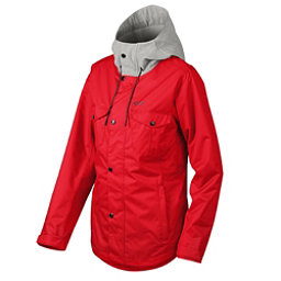 Oakley Charlie Womens Shell Snowboard Jacket, Red Line, 256