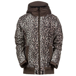 686 Authentic Lynx Womens Insulated Snowboard Jacket, Tobacco Leopard Lace, 256