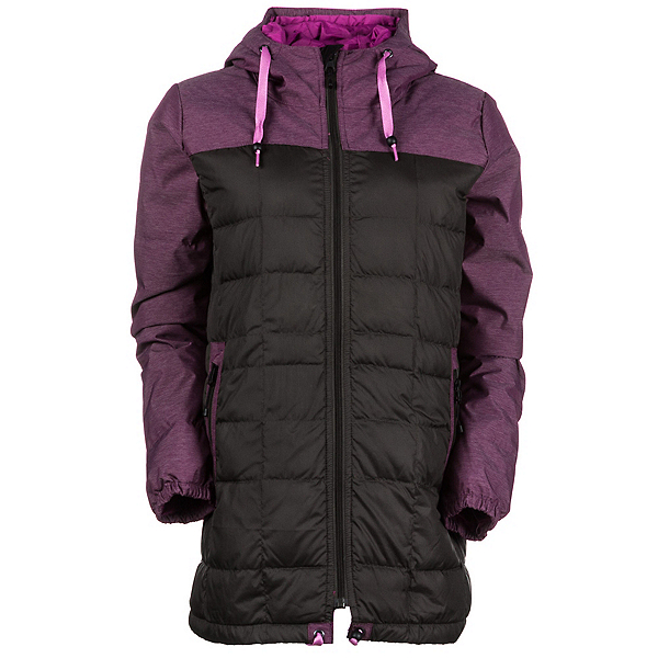 686 Airflight Down Parka Womens Insulated Snowboard Jacket, Coffee, 600