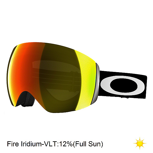 Oakley Flight Deck Goggles, Matte Black-Fire Iridium, 600