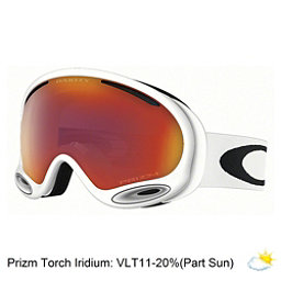 Oakley A Frame 2.0 Prizm Goggles, Polished White-Prizm Torch Iri, 256