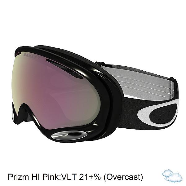 Oakley A Frame 2.0 Prizm Goggles, Jet Black-Prizm Hi Pink Iridiu, 600