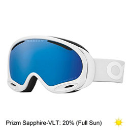 Oakley A Frame 2.0 Prizm Goggles, Factory Pilot Whiteout-Prizm S, 256