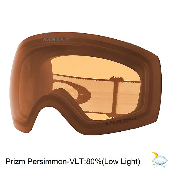 Oakley Flight Deck L Goggle Replacement Lens, Prizm Persimmon, 600