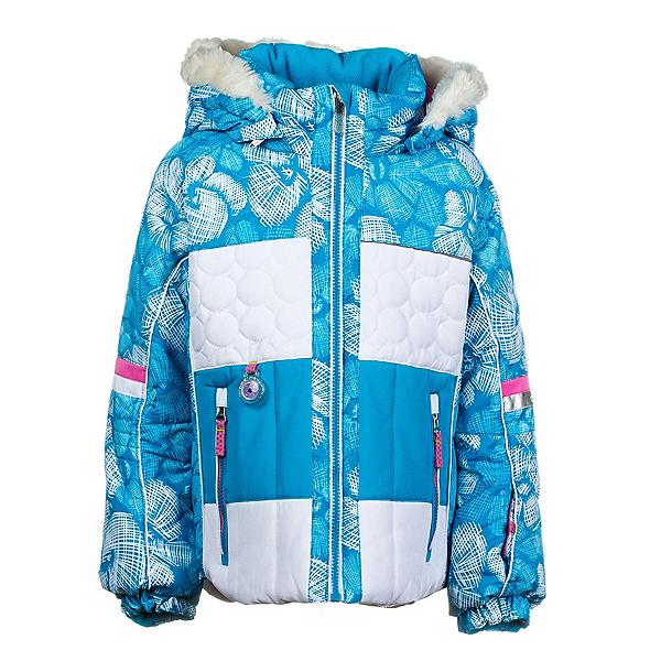 Obermeyer Lush Fur Toddler Girls Ski Jacket, Glacier Snowflower Print, 600
