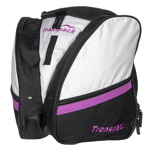 Transpack Compact Pro Ski Boot Bag, White-Purple Electric, 600