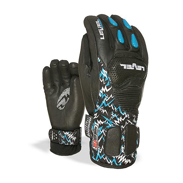 Level Worldcup CF Junior Ski Racing Gloves, Black, 600