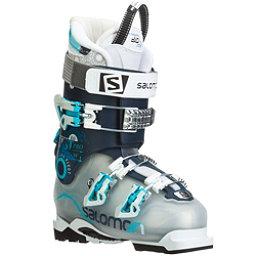 Salomon Quest Pro 80 W Womens Ski Boots, Crystal Translucent-Dark Blue, 256