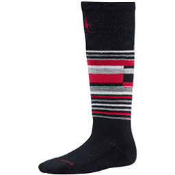 SmartWool Wintersport Stripe Kids Ski Socks, Black, 256