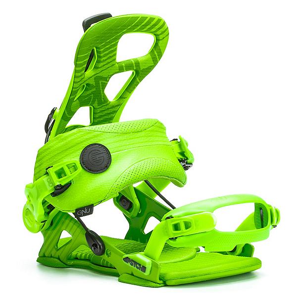 Gnu Psych Snowboard Bindings, Green, 600