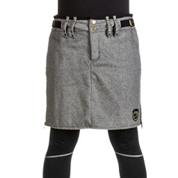 Skea Moyo Short Wool Skirt, Grey Wool, 256
