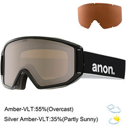 Anon Relapse Goggles, Black-Silver Amber, 256