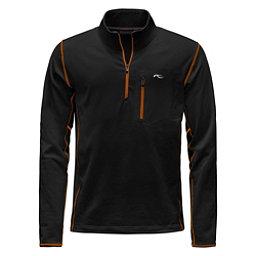 KJUS Hydraulic Half Zip Mens Mid Layer, Black-K Orange, 256