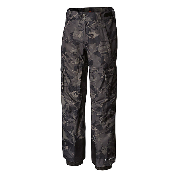 Columbia Ridge 2 Run II Mens Ski Pants, Black Camo, 600