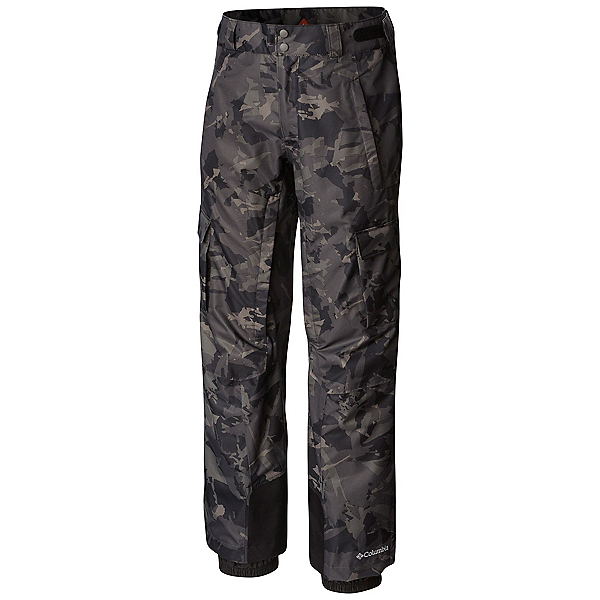 Columbia Ridge 2 Run II Mens Ski Pants, Black Camo Lines Print, 600