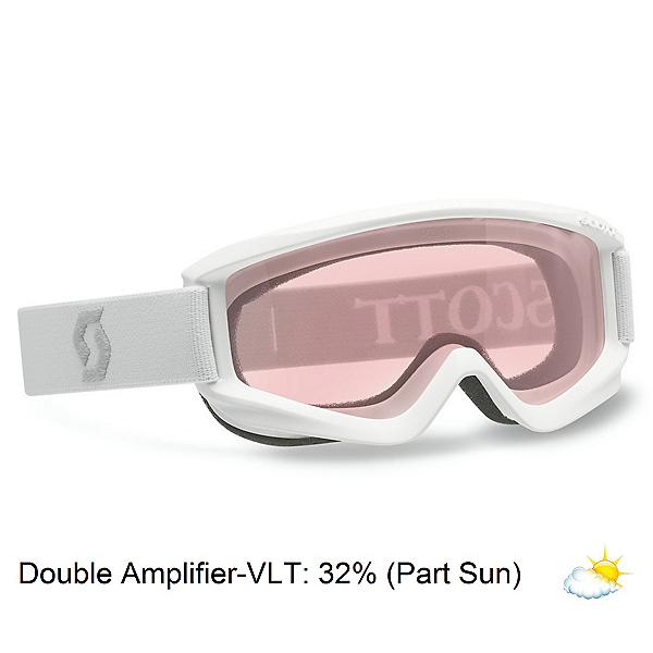 Scott Agent Kids Goggles, White-Double Amplifier, 600